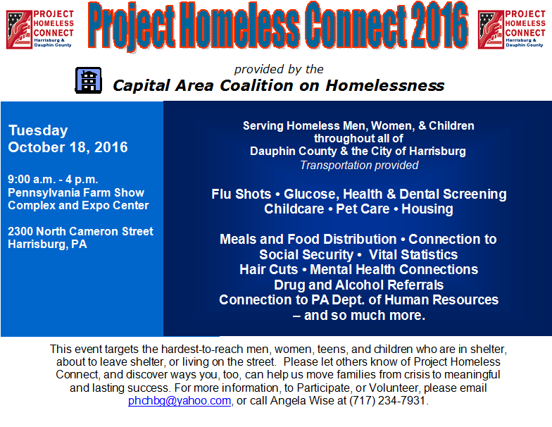 Project Homeless Connect – Capital Area Coalition on